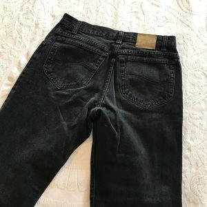 Vintage | Lee 90's Black High Waisted Mom Jeans
